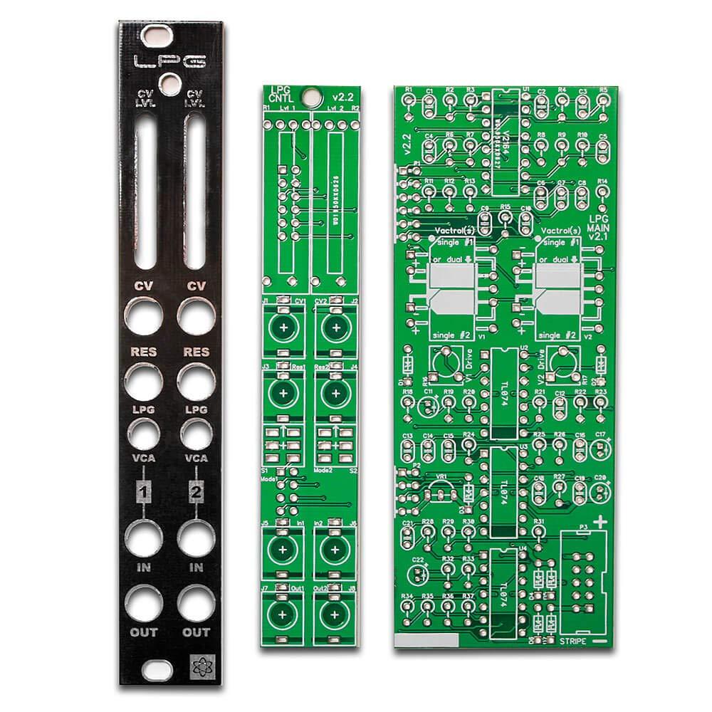 Synthrotek LPG PCBs and Panel - Dual Low Pass Gate Eurorack Module/VCA PCB Set