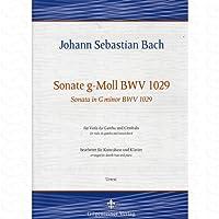 SONATE G-MOLL BWV 1029 - arrangiert für Kontrabass - Klavier [Noten/Sheetmusic] Komponist : Bach Johann Sebastian