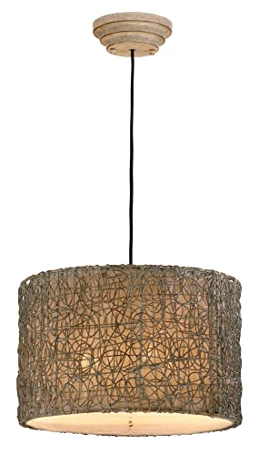 more photos 5b075 38a44 Naturals Knotted Rattan Pendant Chandelier