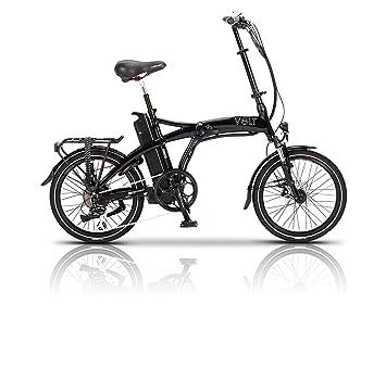 VOLTTM Metro - Bicicleta eléctrica plegable, color negro, tamaño 36v 16ah