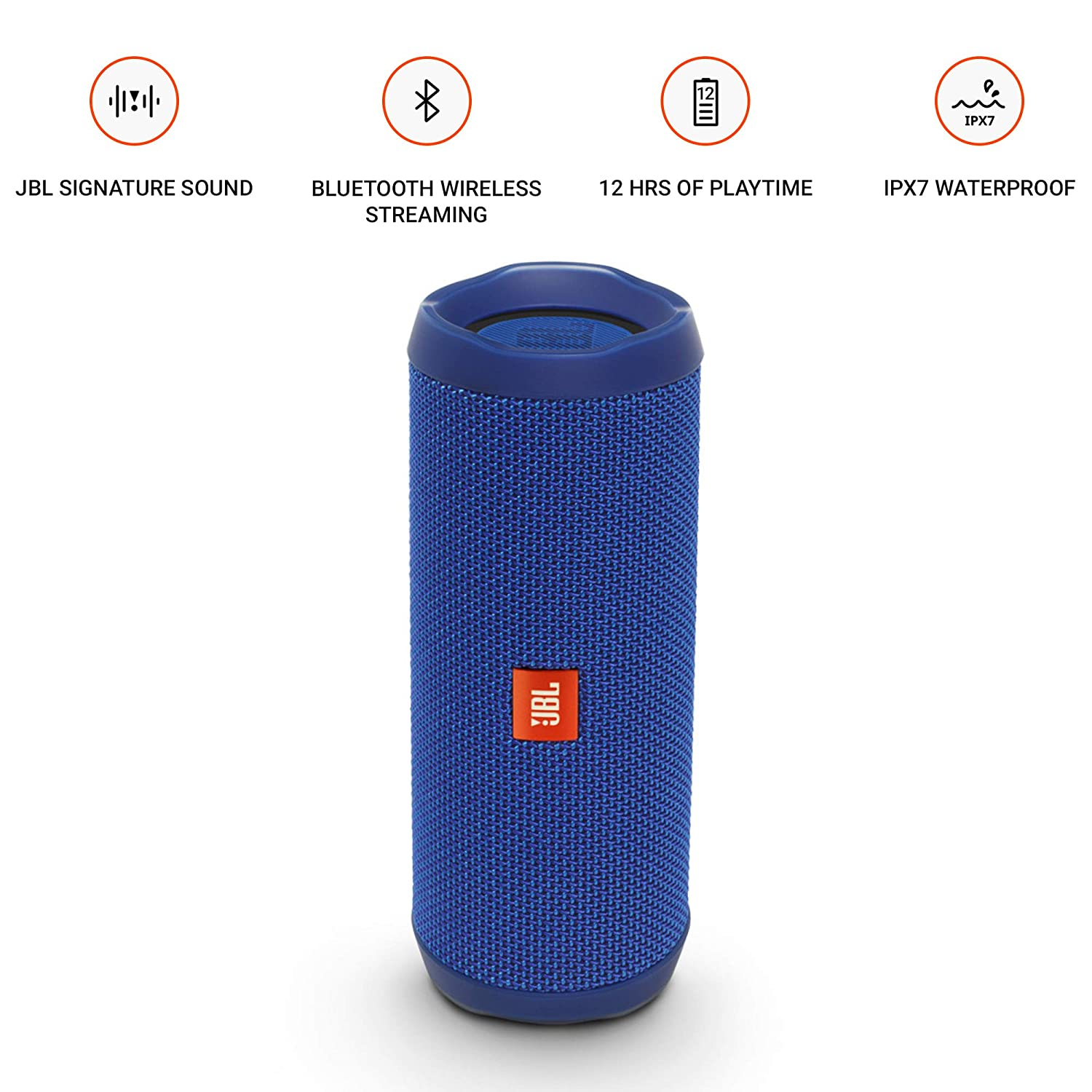 20fc4c2449c Amazon.com: JBL Flip 4 Bluetooth Portable Stereo Speaker - Blue: Electronics
