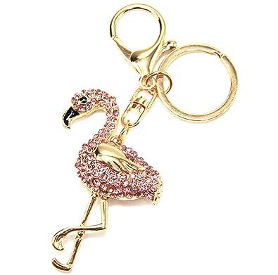 Oh My Shop PT1732E - Porte-Clés Bijou de Sac - Flamant Rose Strass ... 5f43de9053f