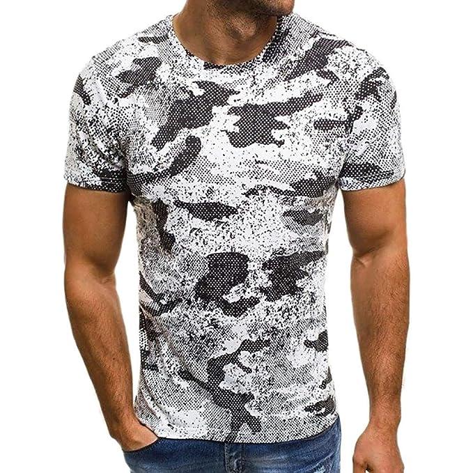 a7fa042692 Camicia Manica Corta alla Moda Camicia Elegante Slim Fit Uomo Casual ...