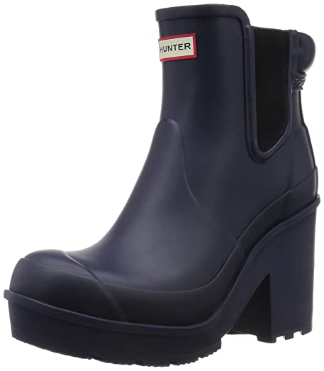 Womens Original Block Heel Chelsea Snow Wellington Ankle Boots - Midnight - 8-39