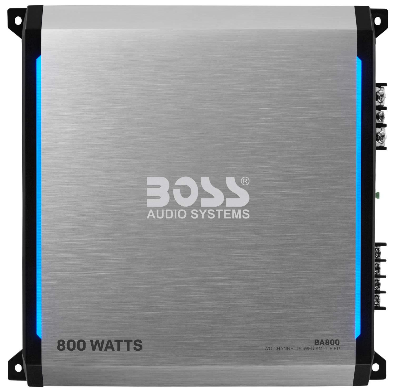 BOSS Audio Elite BA800 2 Channel Car Amplifier - 800 Watts, Full Range, Class A/B, 2-8 Ohm Stable, MOSFET Power Supply