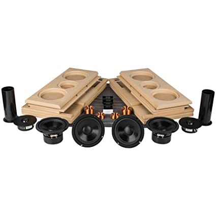 Parts Express Tritrix MTM Speaker Kit Pair With Knock Down Cabinets