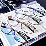 AQWANO 4 Pairs Computer Reading Glasses Blue Light