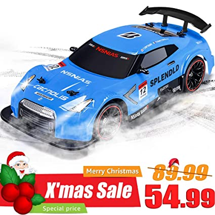 NQD RC Car Electric Racing Drift 1 14 24Ghz Radio Remote 25Km H Controlled RTR Truck For Kids Adults Gifts 4WD High Speed Racer With 74V Battery