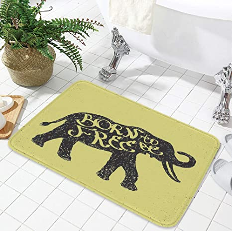 Elephant In Room That Needs To Be >> Amazon Com Yoliyana Short Fur Floor Mat Elephant For Home