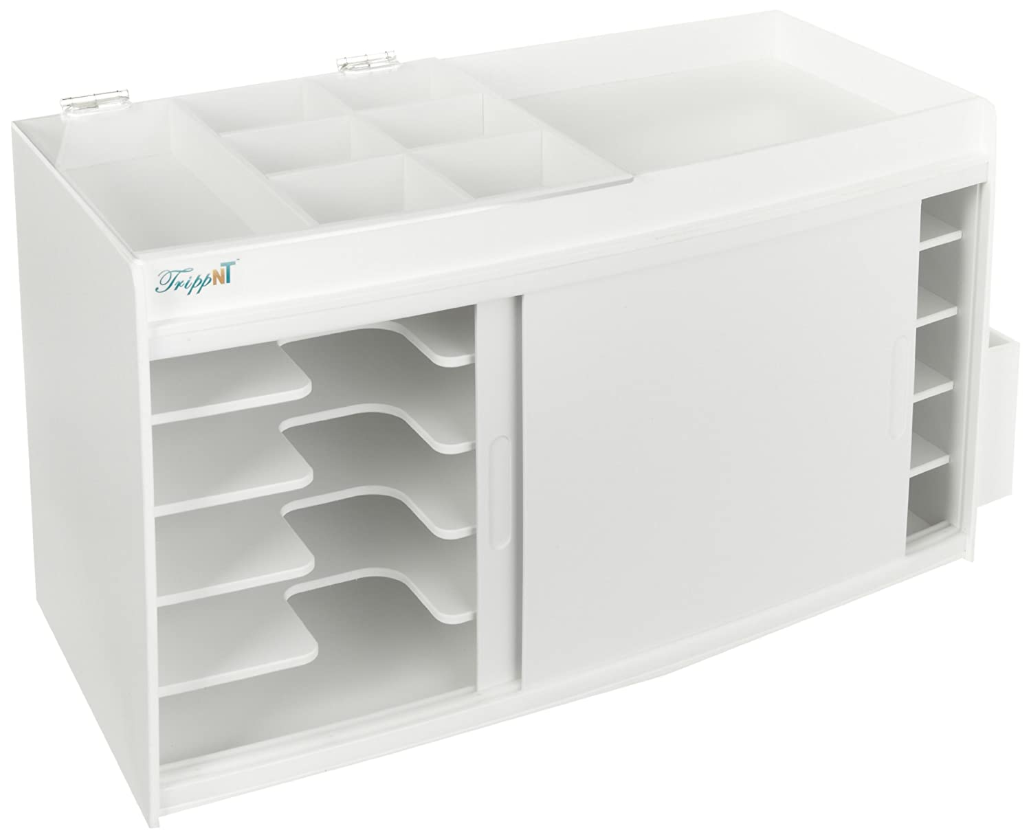 24.5 Width x 14 Height x 10.75 Depth 24.5 Width x 14 Height x 10.75 Depth TrippNT 50964 White PVC GC Column and Storage Cabinet with Light-Proof Door 15.6lbs
