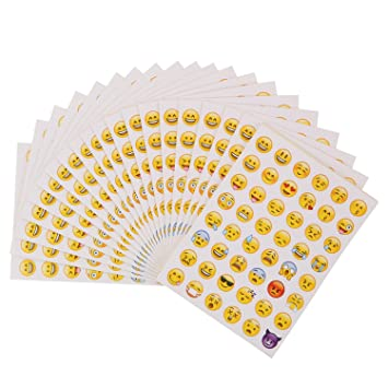 Beyond Dreams 40 Sheets Laughing Faces Stickers Sticker as Reward for Children