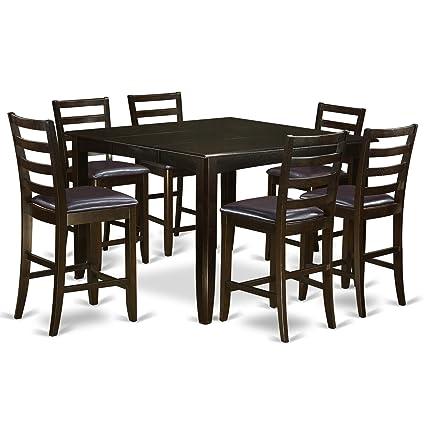 Amazon east west furniture fair7 cap lc 7 piece pub table set east west furniture fair7 cap lc 7 piece pub table set watchthetrailerfo