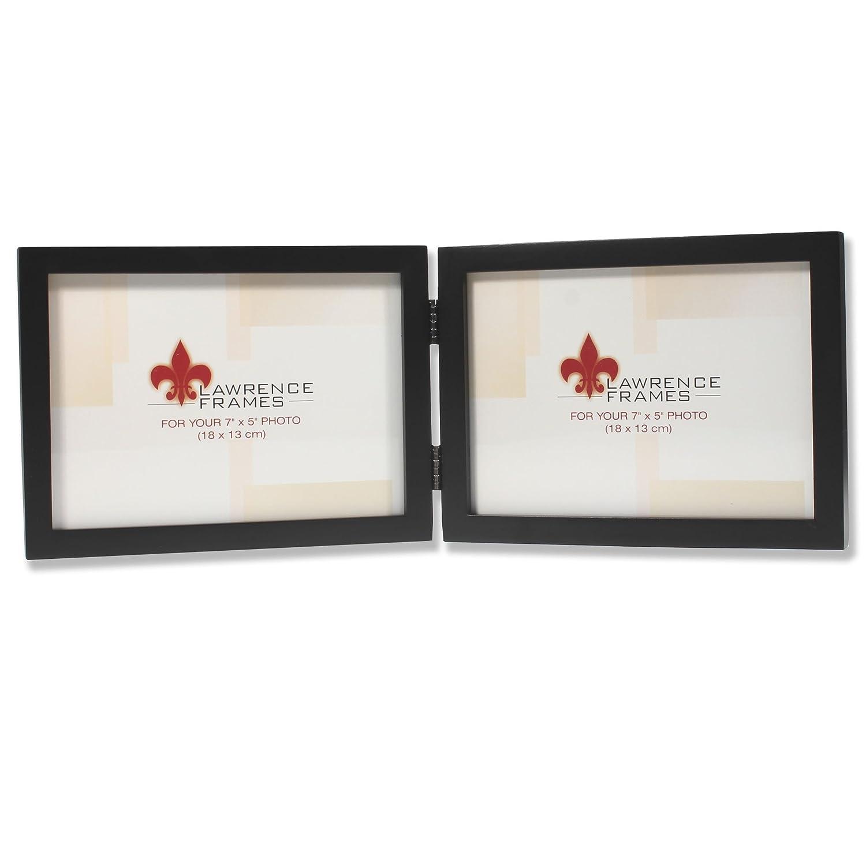 Amazon.com - Lawrence Frames Hinged Double (Horizontal) Black Wood ...