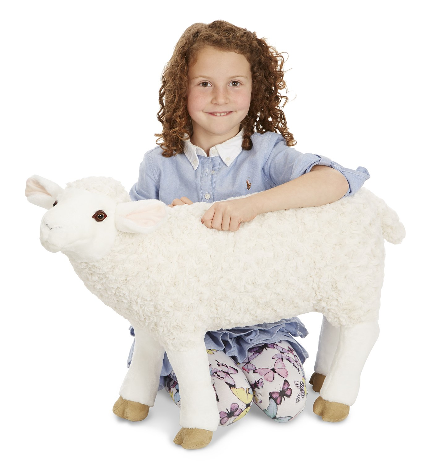 Melissa Doug Giant Sheep Lifelike Stuffed Animal nearly 2 feet tall