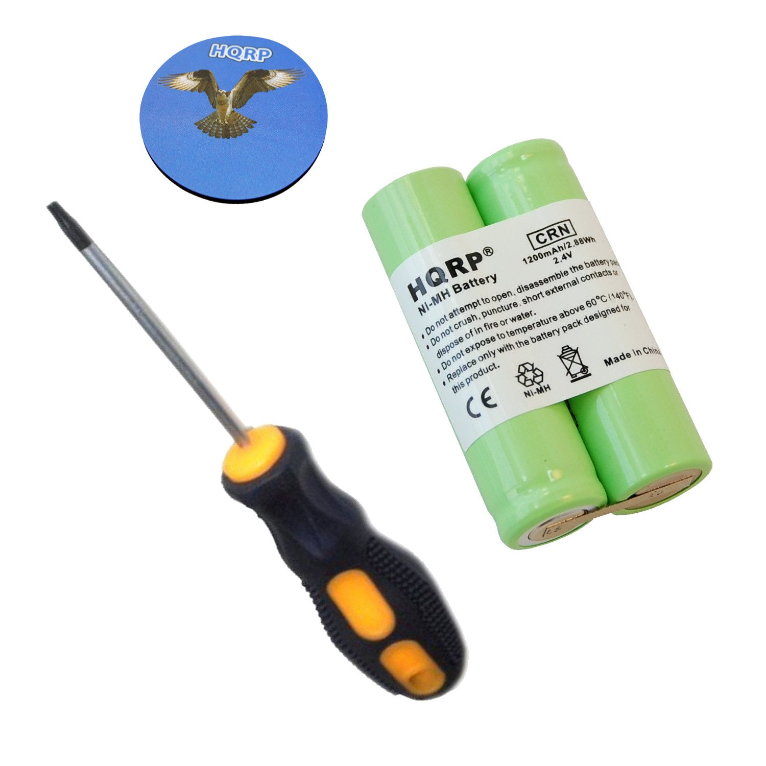 HQRP Battery fits Philips Norelco 6886XLD 6887XL 7610X 7616X 7617X 7735X Razor/Shaver plus Screwdriver and Coaster 884667402091214