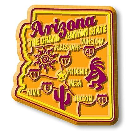 3d Map Of Arizona.Premium State Map Magnet Arizona