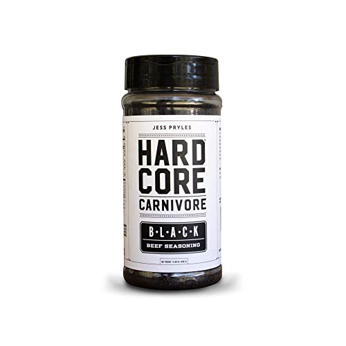 Hardcore-Carnivore-Black:-charcoal-seasoning-for-steak,-beef-and-BBQ-(Large-Shaker)