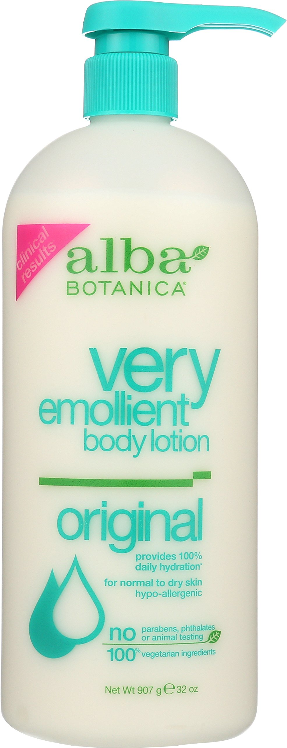 Alba Botanica Very Emollient, Original Body Lotion, 32 Ounce