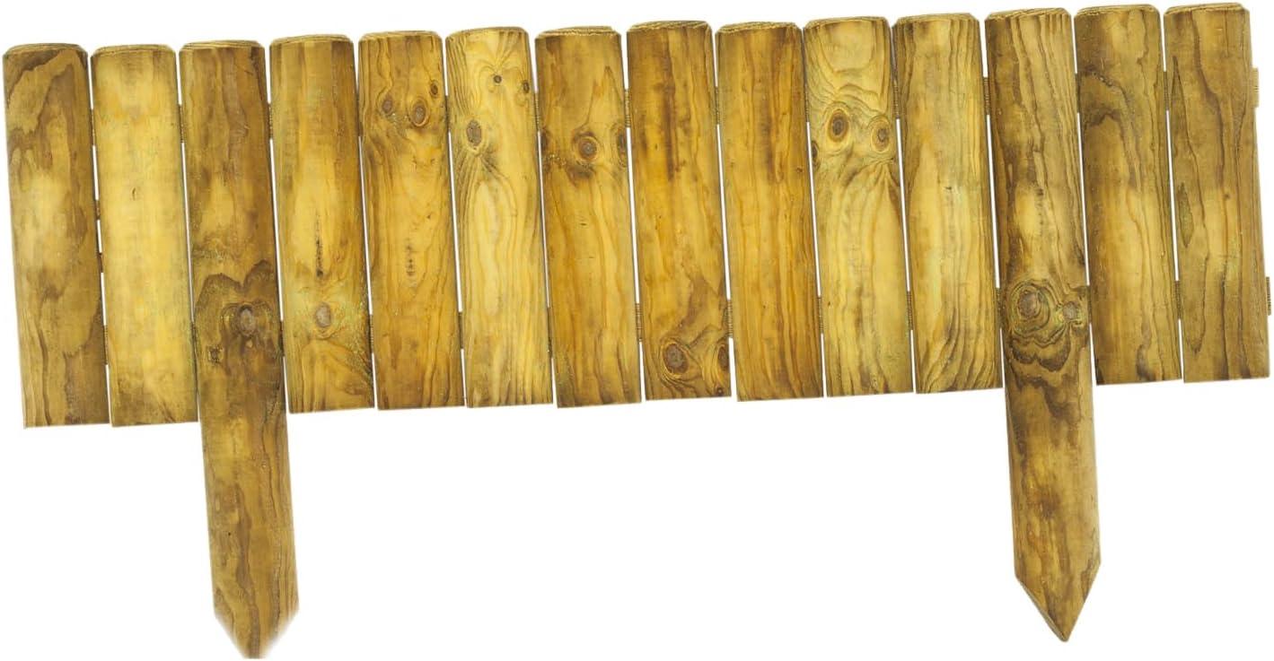 HILLHOUT 3760217461991 Borde Vertical, Madera Natural, 100 x 3.6 x ...