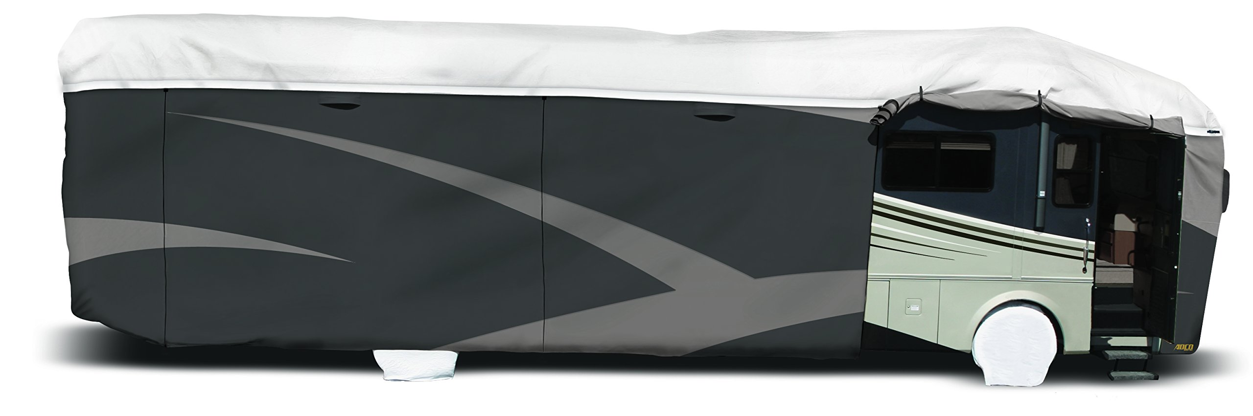 ADCO 34824 Designer Series Gray/White 28' 1'' - 31' DuPont Tyvek Class A Motorhome Cover by ADCO (Image #2)
