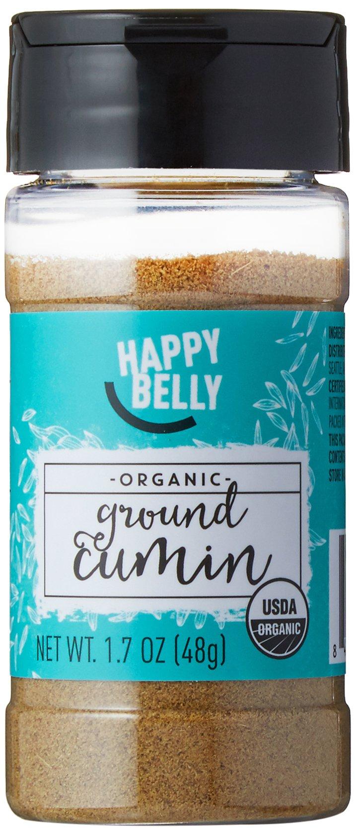 Amazon Brand - Happy Belly Organic Cumin, Ground, 1.7-Ounce