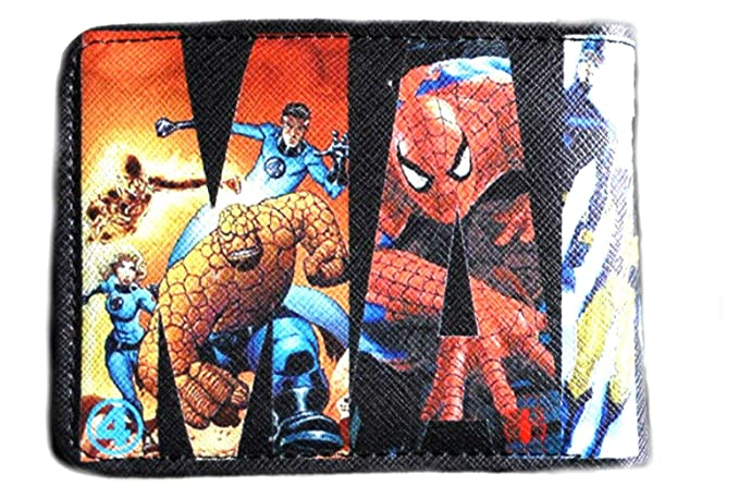 Amazon.com: Marvel Text - Cartera con diseño de cómic para ...
