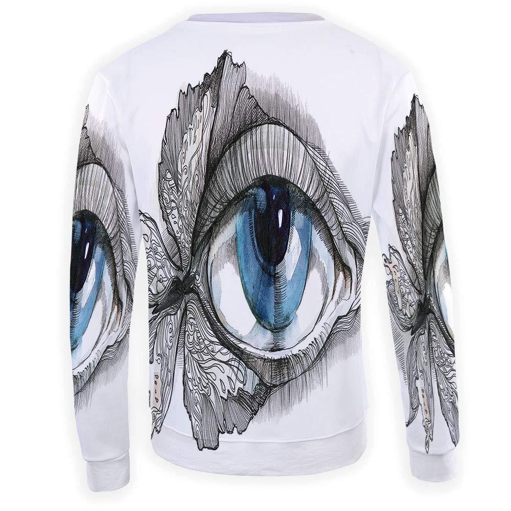 MOOCOM Mens Crewneck Evil Eye Sweatshirt