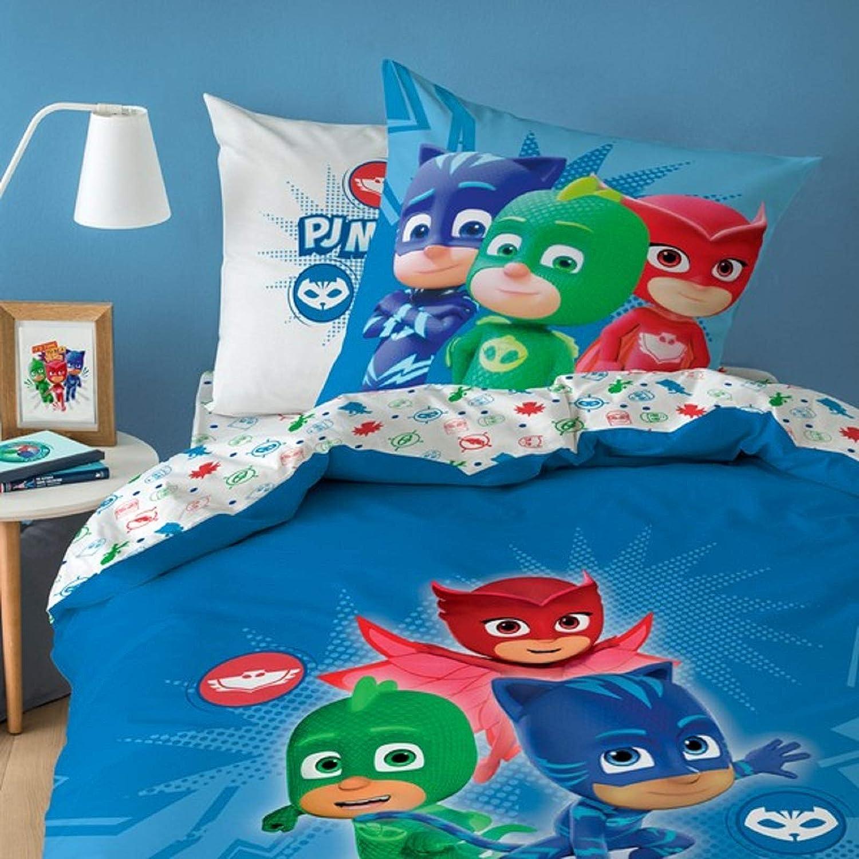 PJMASKS 046562 PJ Masks - Juego de funda nórdica y funda de almohada (135 x 200 cm y 80 x 80 cm), color azul
