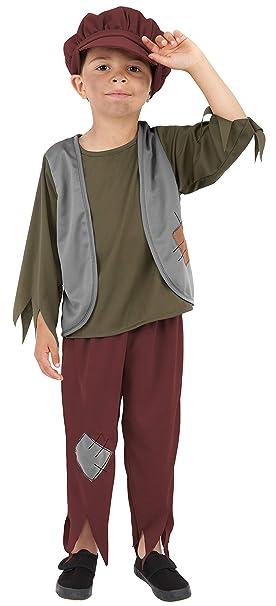 Smiffys 38660L - Disfraz de niño pobre victoriano, talla L, color ...