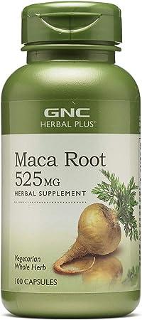 GNC Herbal Plus Maca Root 525mg, 100 Capsules, Supports Vitality