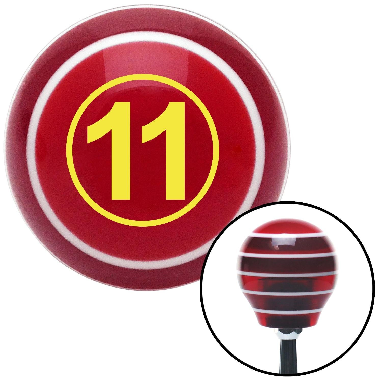 Yellow Ball #11 American Shifter 112264 Red Stripe Shift Knob with M16 x 1.5 Insert