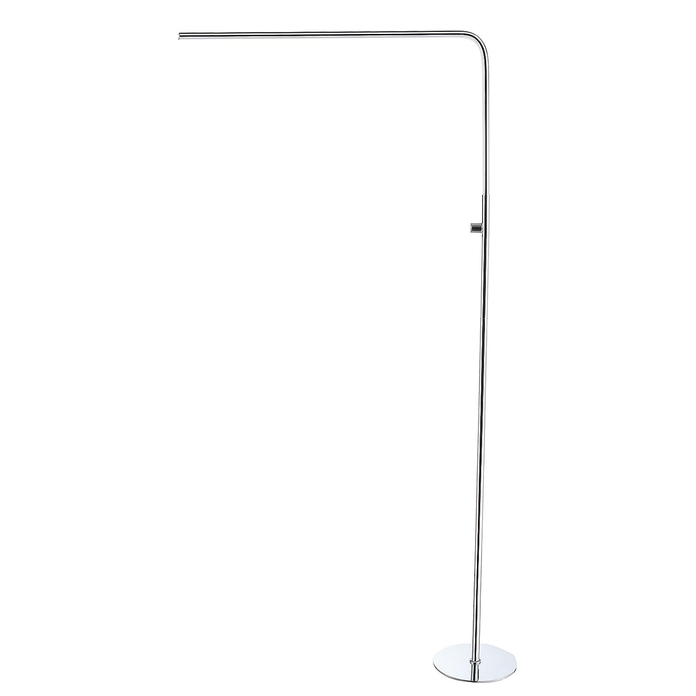 "JONATHAN Y JYL7009A Natalie LED Integrated Floor Lamp, Chrome 63"","