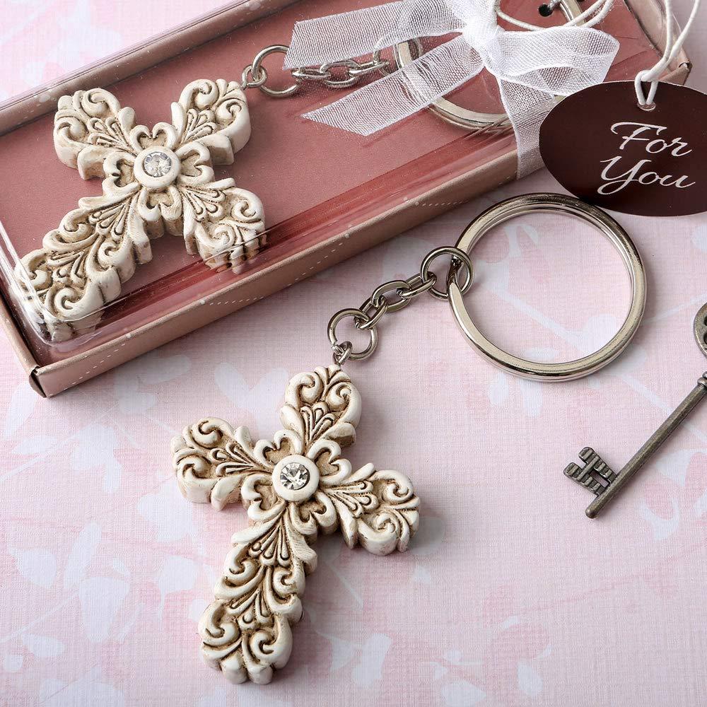 32 Baroque Design Vintage Cross Themed Key Chains