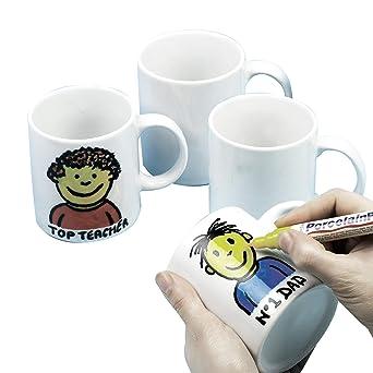 Baker Ross Ec1121- Diseña tus Propias Tazas grandes de Porcelana ...