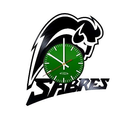 Amazoncom Hockey Team Logo Design Vinyl Record Wall Clock