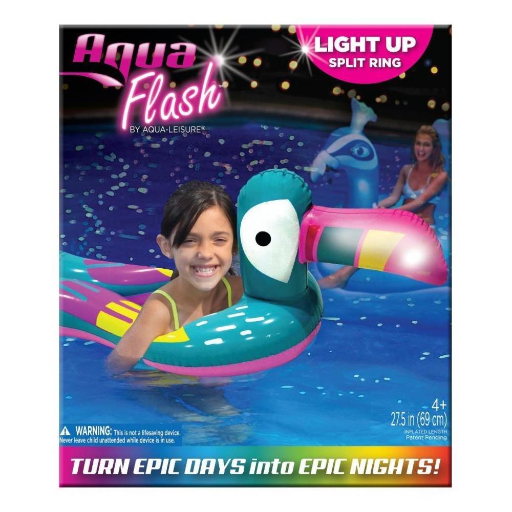 Aqua - Anillo de natación con luz LED para Piscina, Playa, Patio ...
