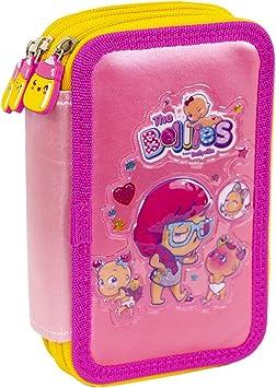 The Bellies From Bellyville - Estuche Escolar con Set Completo de Materiales Escolares para niños y niñas a Partir de 3 años, Color Rosa (Famosa 700015961): Amazon.es: Equipaje
