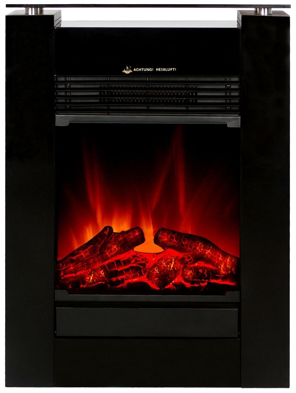 El Fuego Elektrokamin mit täuschend Echtem Flammeneffekt B, 1 Stück, Tessin schwarz [Energieklasse B] 1 Stück El Fuego®