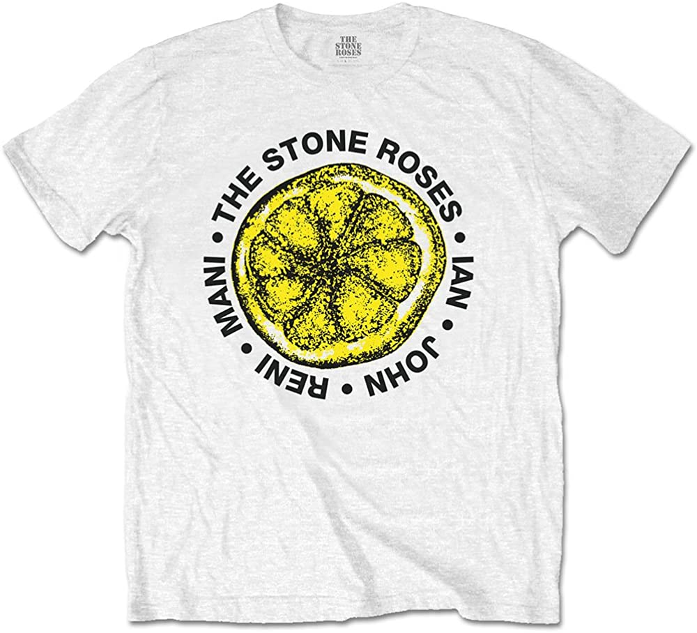 Official Stone Roses Men/'s Grey T-Shirt Waterfall