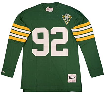 b2f5d086e Mitchell   Ness Reggie White Green Bay Packers Name   Number Longsleeve Tee  ...