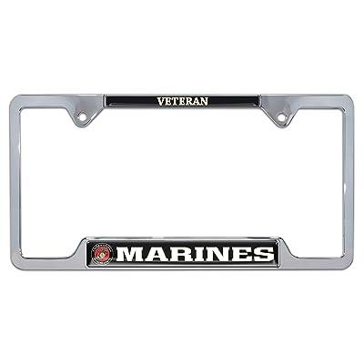 Elektroplate Marines Veteran Open License Plate Frame: Automotive