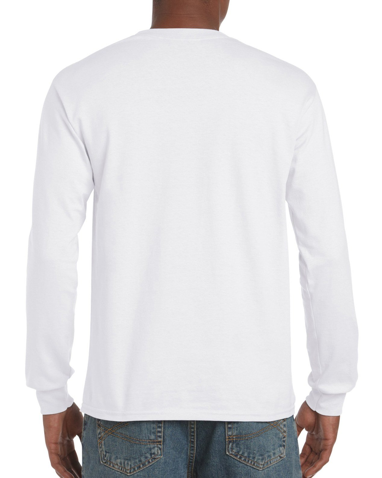 Gildan Men's Ultra Cotton Adult Long Sleeve T-Shirt, 2-Pack, White Large by Gildan (Image #2)
