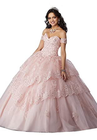 7fd95f606ab38 MEET Lace Appliques Beaded Ruffles Ball Gowns Quinceanera Dresses ...