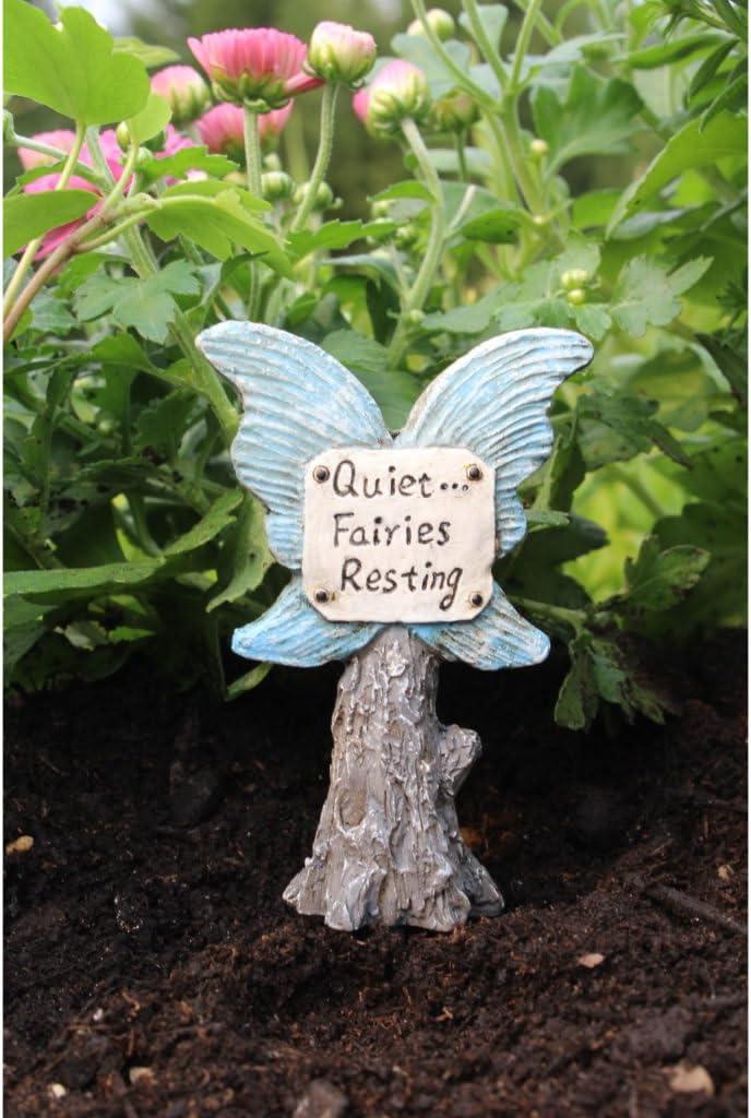 Miniature Fairy Garden Quite Fairies Resting Sign