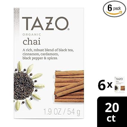 Tazo Organic Spicy Ginger - Bolsas de filtro para té de ...