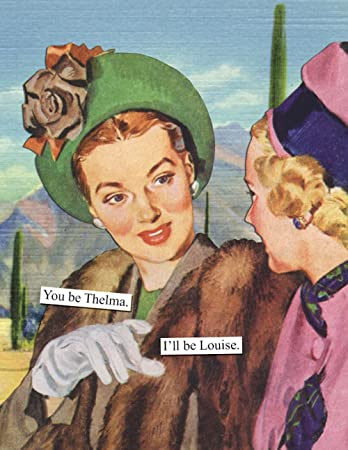 Amazon anne taintor happy birthday greeting card you be anne taintor happy birthday greeting card you be thelma ill be louise bookmarktalkfo Images