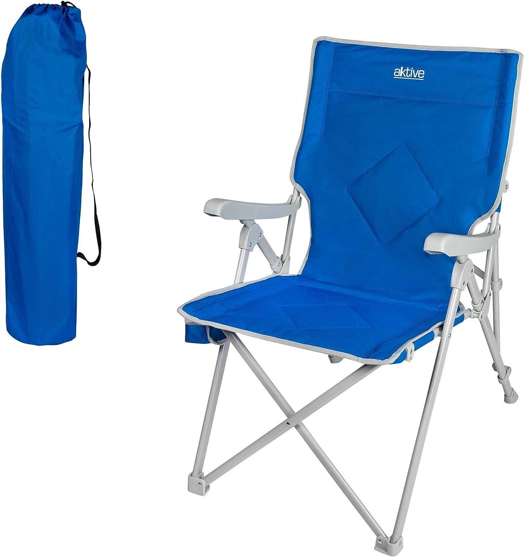 Aktive 52839 - Silla plegable para camping 3 posiciones Camping 59 x 87 x 98 cm