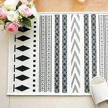 QT Moderne Minimalistische Schwarz Weiß Teppich,Badematte In Die Tür,Guan  Fang