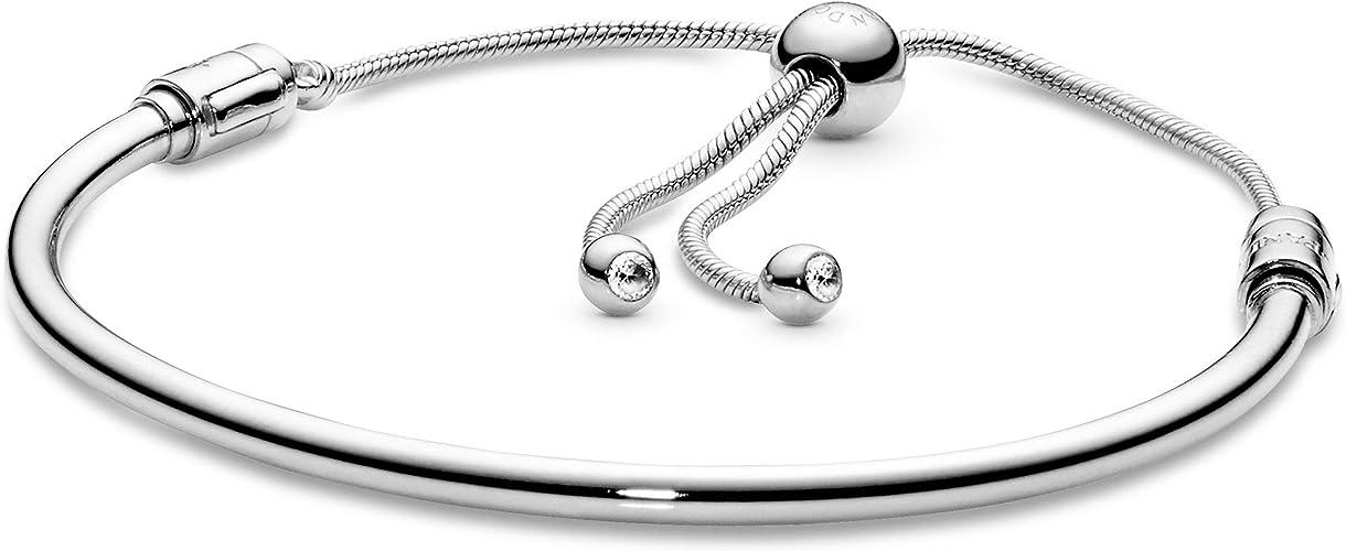 PANDORA Moments Sliding Bangle Bracelet - 567953CZ: Amazon.ca ...