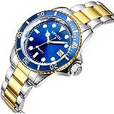 SONGDU メンズ クラシック ステンレススチール 腕時計 アナログ 日付 クォーツ ウォッチ